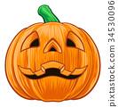 pumpkin, halloween, vector 34530096