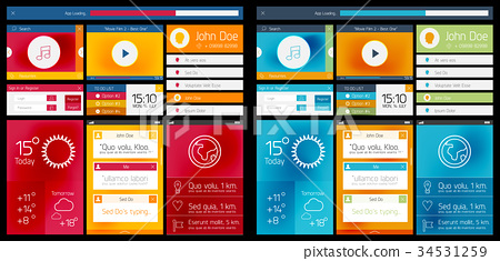 Vector web design scheme of ui 34531259