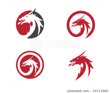 Head dragon logo template 34531960