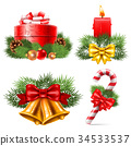 christmas, icon, set 34533537