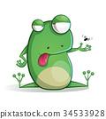 青蛙 卡通 兩棲的 34533928