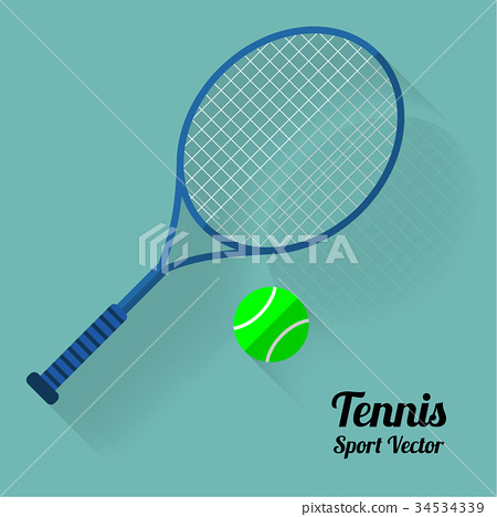 Tennis racket and ball icon, vector illustration 34534339