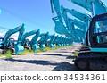 重型机械 挖掘者 挖掘机 34534361