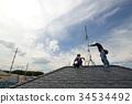 리폼 안테나의 유지 보수 전기 기술자의 작업 풍경 34534492