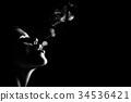 young woman smoking 34536421