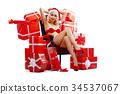 Snehurochka, Santa Claus woman, beautiful blonde 34537067