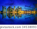 Singapore skyline background 34538093