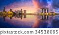 Singapore skyline background 34538095