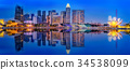 Singapore skyline background 34538099