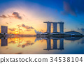 Singapore skyline background 34538104