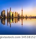 Shanghai skyline cityscape 34538152