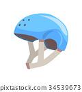 Blue sport helmet cartoon vector Illustration 34539673