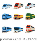 railway, train, vector 34539779
