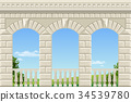 Classic arch of the palace 34539780