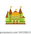 flag castle vector 34539813