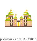 flag castle vector 34539815