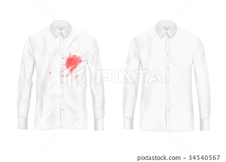 Shirt stain remover experiment vector concept 34540567
