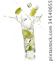 water and lime 34540655
