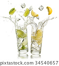 lime and lemon soft drink 34540657