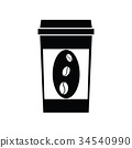 Vector black coffee icons 34540990
