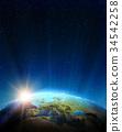 europe, earth, space 34542258