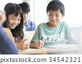 초등학생, 수업, 동급생 34542321