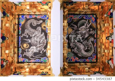Nikko Toshogu Yomeimon Ryu的天花板圖片 34543387