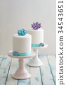 Mini succulent wedding cakes 34543651