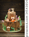 Enchanted forest cake 34543654