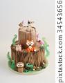 Enchanted forest cake 34543656