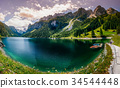 beautiful clear mountain lake in the Alps 34544448