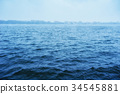 beautiful photo blue lake in the city 34545881