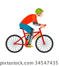 vector, cyclist, road 34547435