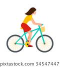 vector, bike, cyclist 34547447