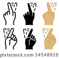 Shake finger to reject or stop something, vectors 34548939