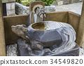 洗手用的水 石碑 手水舍 34549820