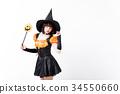 할로윈 마녀의 코스프레를하는 여자 34550660