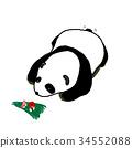 熊猫 动物 竹子 34552088