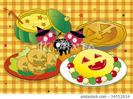万圣节 菜单 矢量 34552614