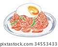 neapolitan, spaghetti, pasta 34553433