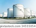 oil refinery near river 34555054