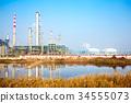 oil refinery plant near river 34555073