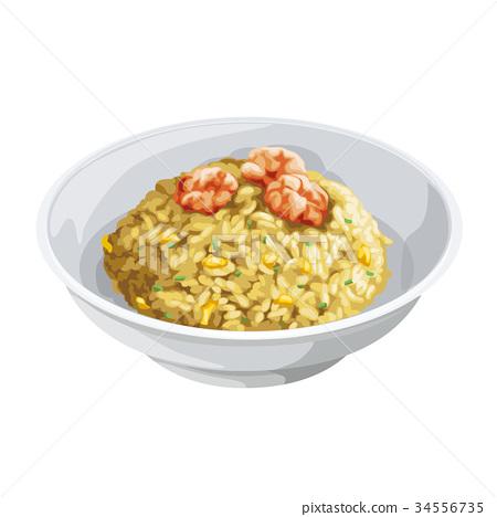 shrimp fried rice, food, foods 34556735