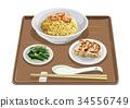 shrimp, fried, rice 34556749
