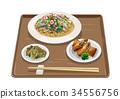 莎拉乌冬 春卷 食物 34556756