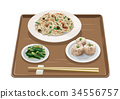 fried, rice, vermicelli 34556757