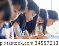 นักเรียนประถม,เด็กผู้หญิง,บทเรียน 34557213