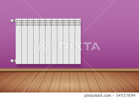 Metal Heating radiator in room 34557694