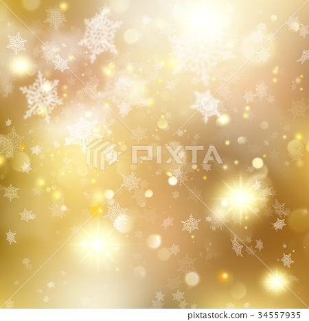 Christmas golden holiday glowing backdrop. EPS 10 34557935