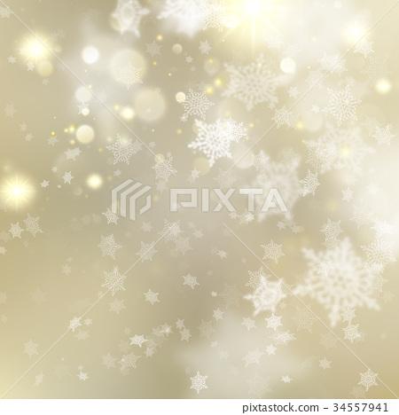 Christmas golden holiday glowing backdrop. EPS 10 34557941